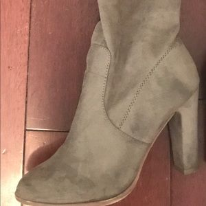 Shoes - SUEDE THIGH HIGH BOOTS